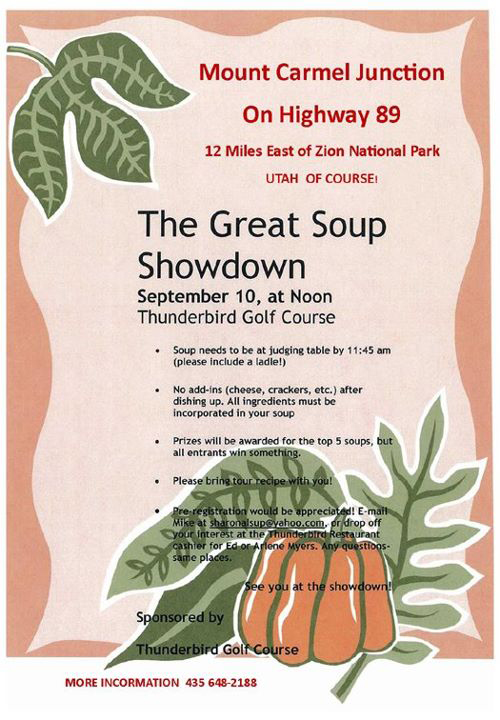 The Great Soup Showdown - Thunderbird in Mount Carmel Junction, UT