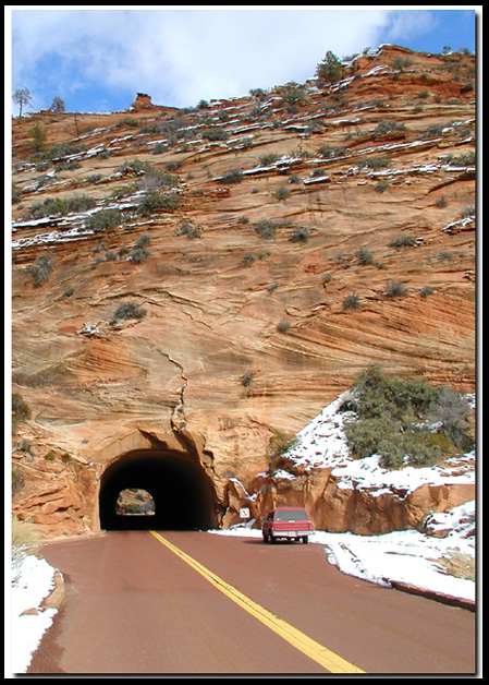 The short tunnel in Zion National Park
